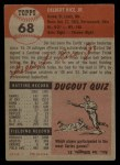 1953 Topps #68  Del Rice  Back Thumbnail