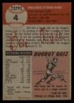 1953 Topps #4  Ben Wade  Back Thumbnail