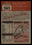1953 Topps #262  Bob Oldis  Back Thumbnail