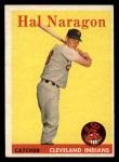 1958 Topps #22  Hal Naragon  Front Thumbnail