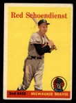 1958 Topps #190  Red Schoendienst  Front Thumbnail
