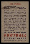 1951 Bowman #80  Art Weiner  Back Thumbnail