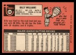1969 Topps #450  Billy Williams  Back Thumbnail