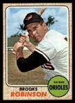 1968 Topps #20  Brooks Robinson  Front Thumbnail