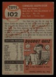 1953 Topps #102  Connie Ryan  Back Thumbnail