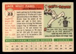 1955 Topps #23  Jack Parks  Back Thumbnail