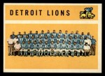 1960 Topps #50   Lions Team Checklist Front Thumbnail