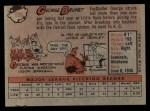 1958 Topps #139  George Brunet  Back Thumbnail