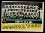 1956 Topps #111   Red Sox Team Front Thumbnail
