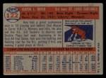 1957 Topps #122  Ken Boyer  Back Thumbnail