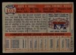 1957 Topps #103  Joe Nuxhall  Back Thumbnail