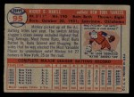 1957 Topps #95  Mickey Mantle  Back Thumbnail