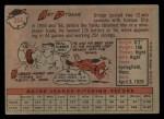 1958 Topps #354  Art Ditmar  Back Thumbnail