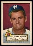 1952 Topps #292  Floyd Baker  Front Thumbnail