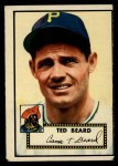 1952 Topps #150 CRM Ted Beard  Front Thumbnail