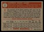 1952 Topps #5 RED Larry Jansen  Back Thumbnail