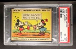 1935 Gum Inc. Mickey Mouse #58   Look Mickey Front Thumbnail