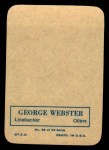 1970 Topps Glossy Inserts #26  George Webster  Back Thumbnail
