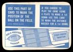 1971 Topps Game #0   Field Marker Back Thumbnail