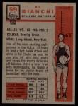 1957 Topps #59  Al Bianchi  Back Thumbnail