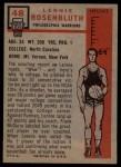 1957 Topps #48  Len Rosenbluth  Back Thumbnail