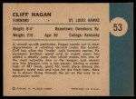 1961 Fleer #53   -  Cliff Hagan In Action Back Thumbnail