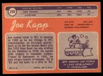1970 Topps #250  Joe Kapp  Back Thumbnail