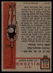 1957 Topps #65  Win Wilfong  Back Thumbnail