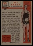 1957 Topps #35  Ray Felix  Back Thumbnail