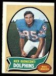1970 Topps #244  Nick Buoniconti  Front Thumbnail