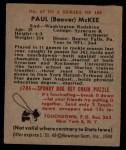 1948 Bowman #67  Paul McKee  Back Thumbnail