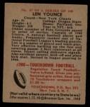 1948 Bowman #37  Len Younce  Back Thumbnail