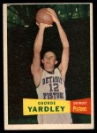 1957 Topps #2  George Yardley  Front Thumbnail
