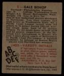 1948 Bowman #3  Gale Bishop  Back Thumbnail