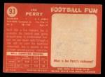 1958 Topps #93  Joe Perry  Back Thumbnail
