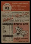 1953 Topps #95  Willard Marshall  Back Thumbnail