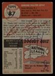 1953 Topps #87  Eddie Lopat  Back Thumbnail