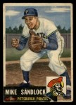1953 Topps #247  Mike Sandlock  Front Thumbnail