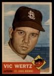 1953 Topps #142  Vic Wertz  Front Thumbnail