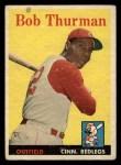 1958 Topps #34  Bob Thurman  Front Thumbnail