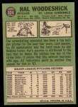 1967 Topps #324  Hal Woodeshick  Back Thumbnail