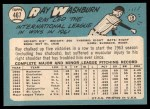1965 Topps #467  Ray Washburn  Back Thumbnail