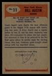 1955 Bowman #11  Bill Austin  Back Thumbnail