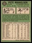 1967 Topps #425  Pete Mikkelsen  Back Thumbnail