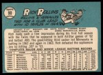 1965 Topps #90  Rich Rollins  Back Thumbnail