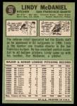 1967 Topps #46  Lindy McDaniel  Back Thumbnail