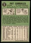 1967 Topps #78  Pat Corrales  Back Thumbnail