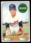 1969 Topps #27  Bernie Allen  Front Thumbnail