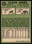1967 Topps #165  Cleon Jones  Back Thumbnail
