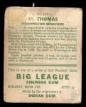 1933 Goudey #169  Al Thomas  Back Thumbnail